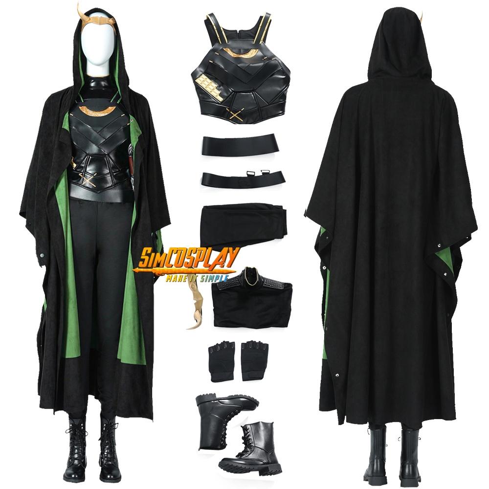 Sylvie Loki Cosplay Costume Variant of Loki Laufeyson Suit Top Level