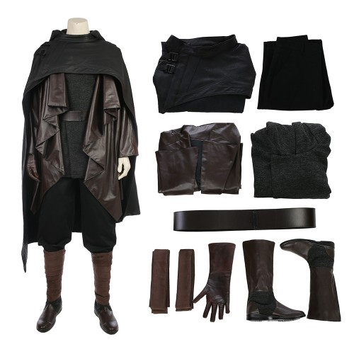 Luke Skywalker Black Outfit Cosplay Costume Star Wars 8 The Last Jedi
