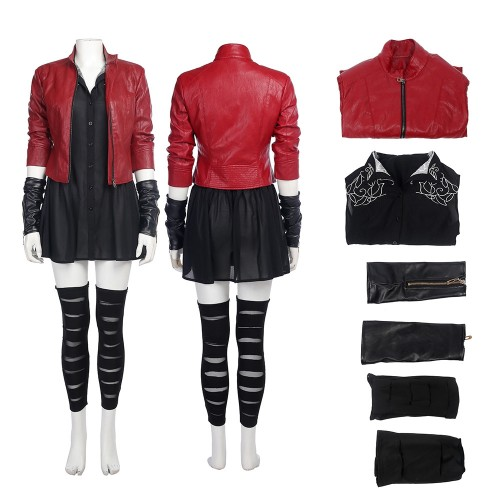 Scarlet Witch Outfit Cosplay Costume Avengers Age of Ultron