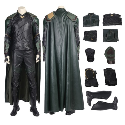 Loki Outfit Thor Ragnarok Cosplay Costume Top Level