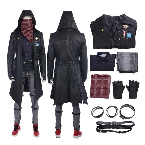 PLAYERUNKNOWN'S Trenchcoat Full Set PUBG Cosplay Costume