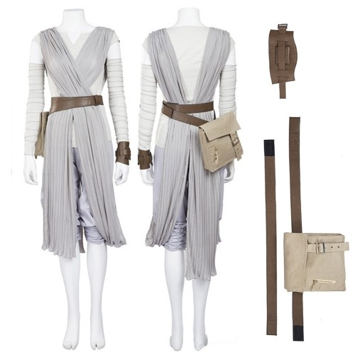 Star Wars The Force Awakens Rey Cosplay Costume Top Level
