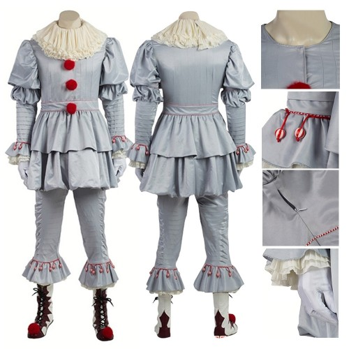 Pennywise Costume Stephen King's It Cosplay Costume Top Level