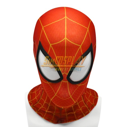 Peter Parker Suit Spider-man Into The Spider Verse Cosplay Mask With Half Face Shell