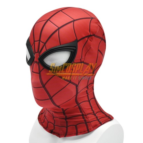 Spider-Man Far From Home Peter Parker Cosplay Mask With Half Face Shell