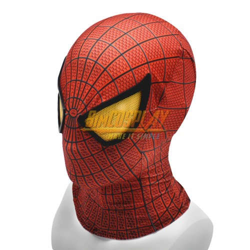 The Amazing Spider-Man Peter Parker Suit HD Cosplay Mask With Half Face Shell