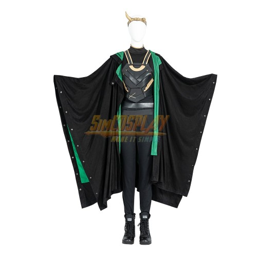 Female Loki Cosplay Costume 2021 LOKI Variant Dress Up Suit Top Level