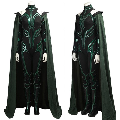 Thor Ragnarok Hela Outfits Cosplay Costume Deluxe Black Version