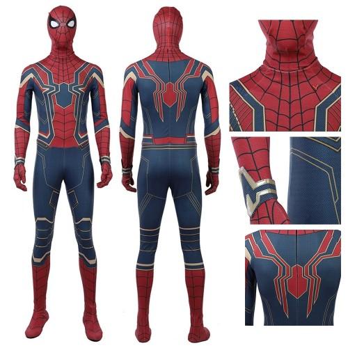 Infinity War Spiderman Suit Cosplay Costume Top Level