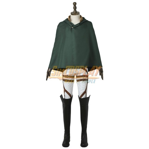 Attack On Titan Eren Cosplay Costume Attack On Titan Eren Yeager The Survey Corps Cosplay Uniform