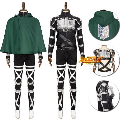 Attack On Titan Final Season The Survey Corps Levi Cosplay Costumes Top Level