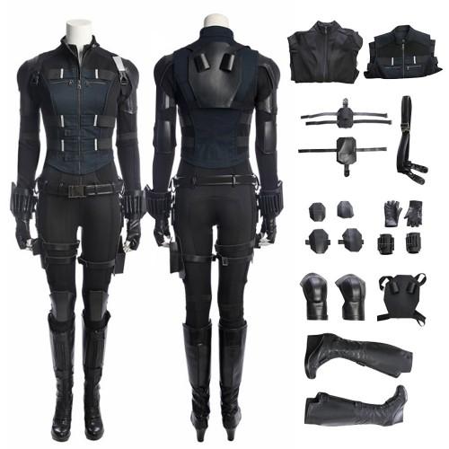Avengers Infinity War Black Widow Natasha Romanoff Cosplay Costume
