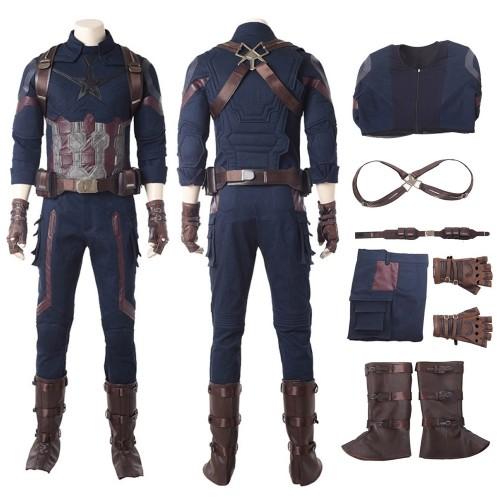 Infinity War Captain America Steven Rogers Cosplay Costumes ur18091003