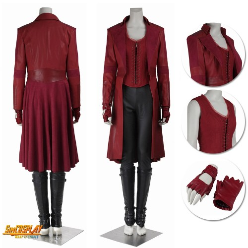 Avengers Scarlet Witch Cosplay Costume Wanda Maximoff Suit Sac3407