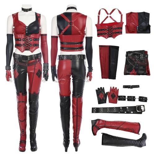 BatMan Arkham City Harley Quinn Cosplay Costume Top Level