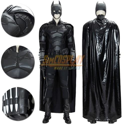 Batman 2021 Cosplay Costumes Leather Batsuit For Superhero Cosplay Ver.1