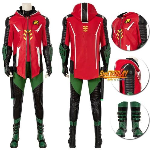 Batman Gotham Knights Robin Cosplay Costumes Top Level