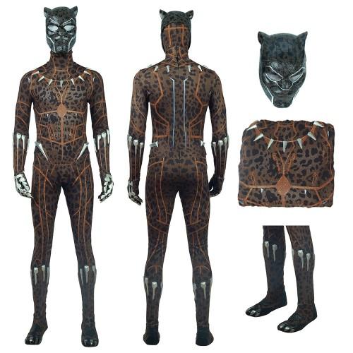 Black Panther Erik Killmonger Leopard Cosplay Costume 2018 New