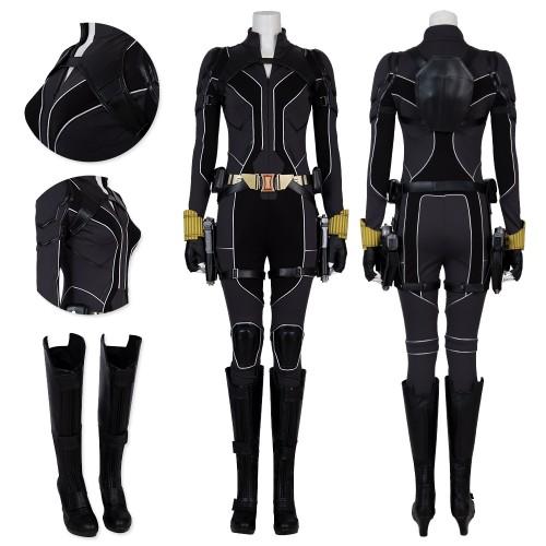 Black Widow 2020 Cosplay Costume Natasha Romanoff New Black Suit Top Level