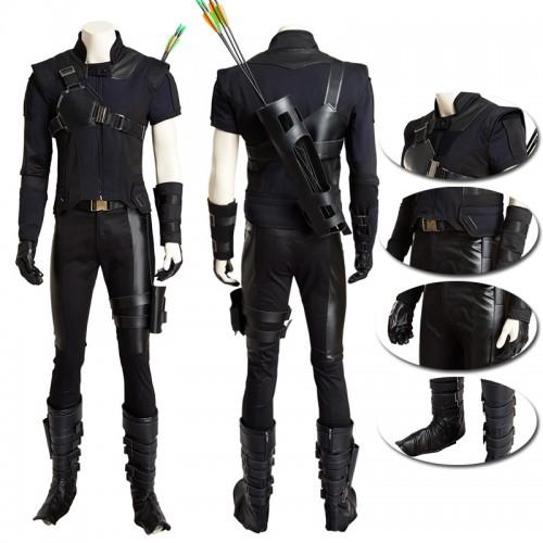 Captain America Civil War Hawkeye Clint Barton Cosplay Costume sim1126cwhcb