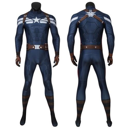 Captain America Classic Cosplay Zentai The Winter Soldier Bodysuit