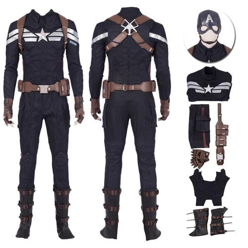Captain America Costume Avengers Endgame Steve Rogers Cosplay Costume