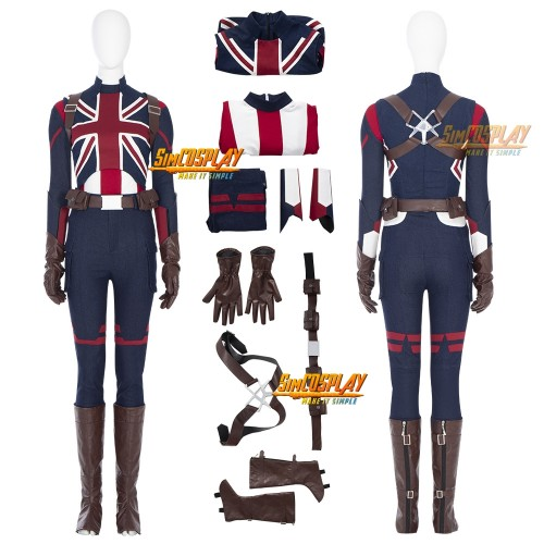 Captain Carter Cosplay Costumes What If Peggy Carter Cosplay Suit Top Level