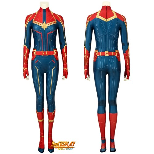 Captain Marvel Cosplay Jumpsuit 3d Printed