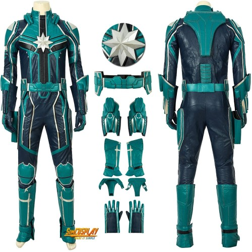 Captain Marvel Yon-Rogg Costumes StarForce Cosplay Uniform Male Suits