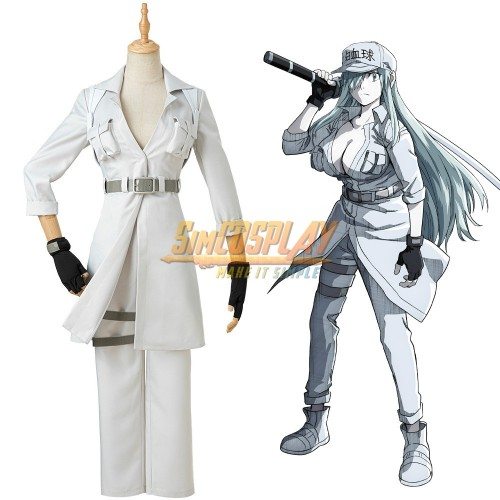 Cells at Work Cosplay Suit White Blood Cell Girl Cosplay Costume