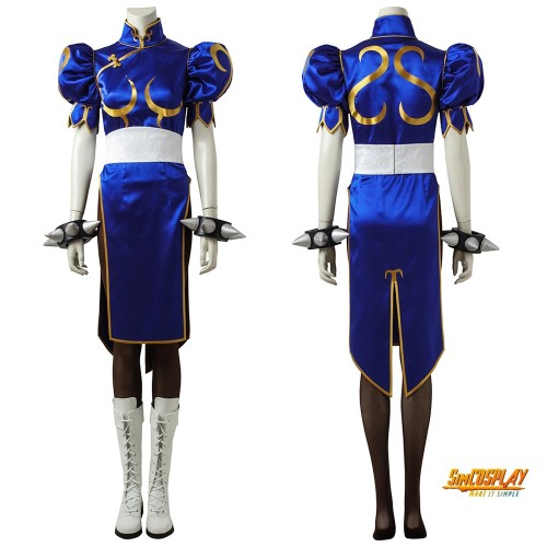 Chun Li Cosplay Street Fighter Costume Chinese Kung Fu Dress Up