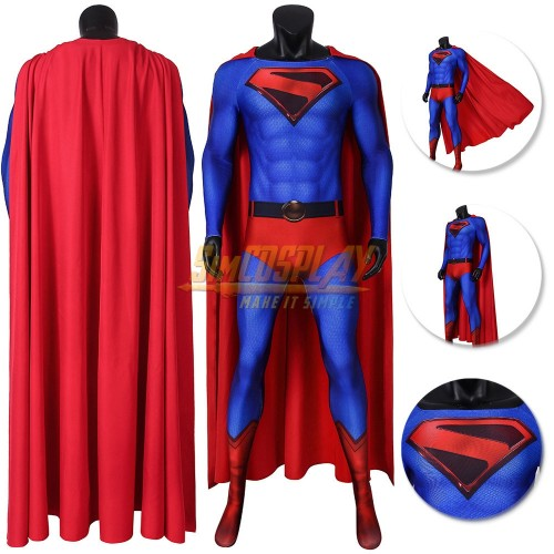 Crisis on Infinite Earths SuperMan Costume 3D Printed Spandex Suit Top Level