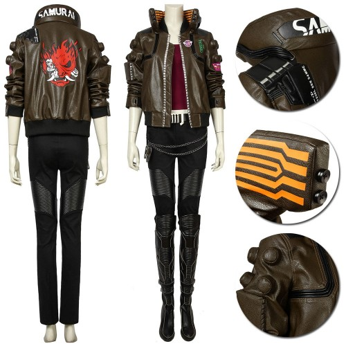Cyberpunk 2077 V Cosplay Costume Female Edition Deluxe Edition
