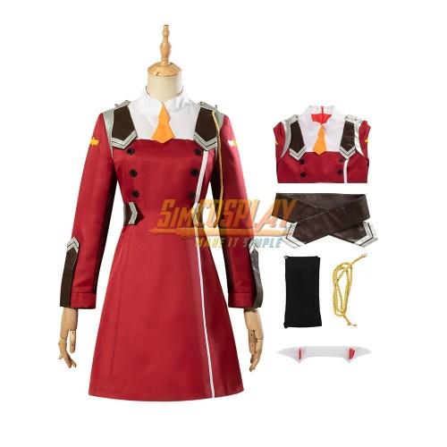Darling in The Franxx Zero Two Cosplay Costume 02 Female Dress Up Suit