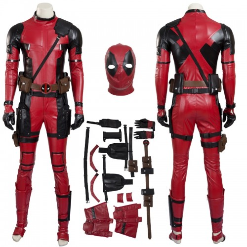 Deadpool 2 Wade Wilson Leather Jumpsuit Costume Sim1127dpr
