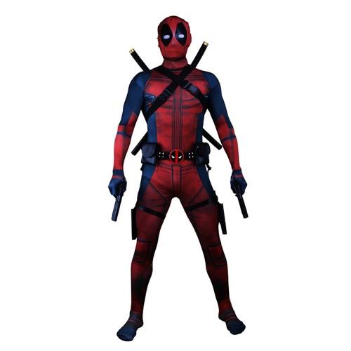 Deadpool Cosplay Costume Zentai Jumpsuit sim1204dzj