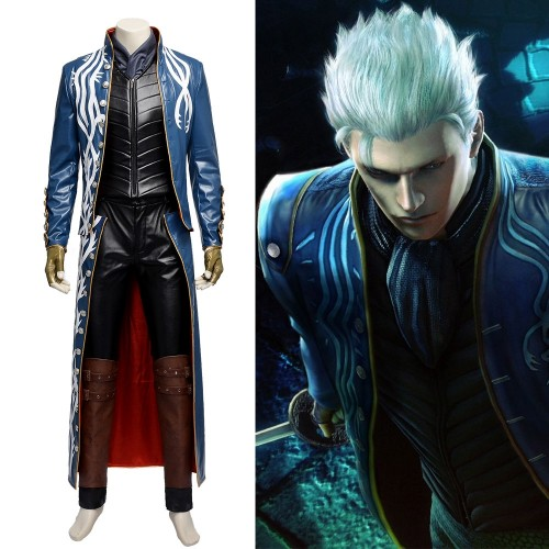 Devil May Cry Vergil Cosplay Costumes Top Level