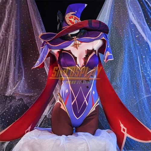 Genshin Impact Mona Cosplay Costume High Detailed Cosplay Suit