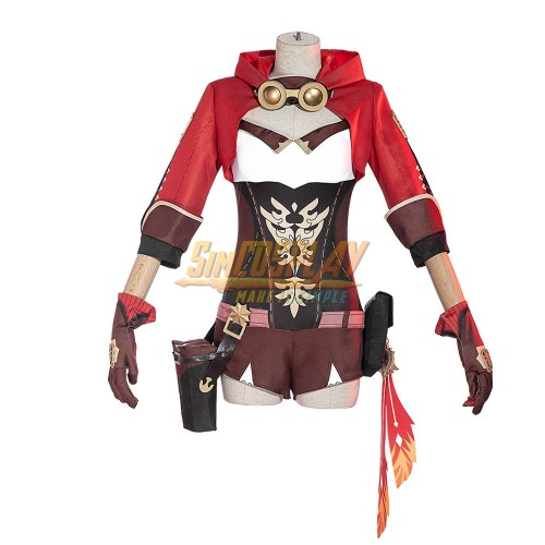 Genshin Impact Amber Cosplay Costume Promotion Edition