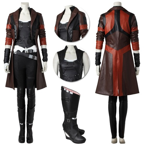 Gamora Cosplay Costume Guardians of The Galaxy Artificial Leather Costume Ver.2