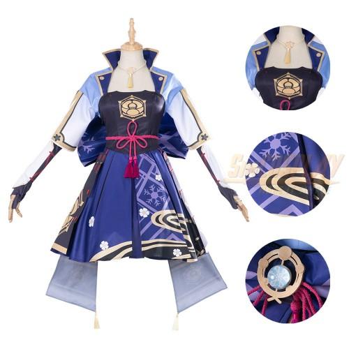 Genshin Impact Ayaka Cosplay Costume High Detailed Cosplay Suit
