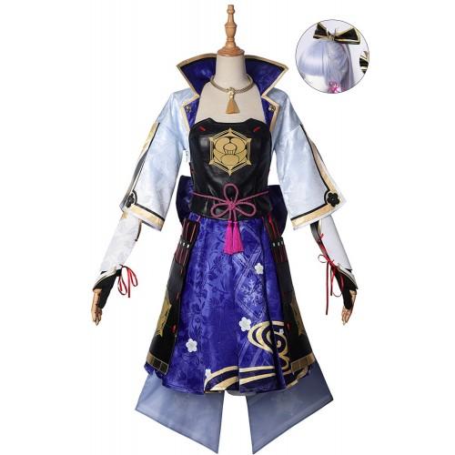 Genshin Impact Ayaka Dress Up Cosplay Costume Top Level