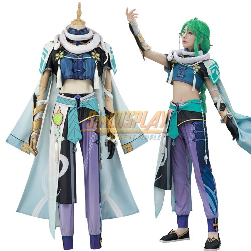 Genshin Impact Baizhu Cosplay Dress Up Costumes Top Level