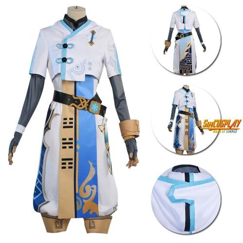 Genshin Impact Chongyun Cosplay Costume White Kung Fu Suit