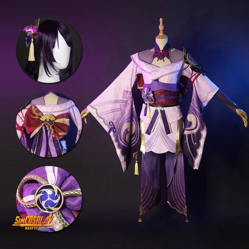 Genshin Impact Electro Archon Baal Cosplay Costumes Top Level