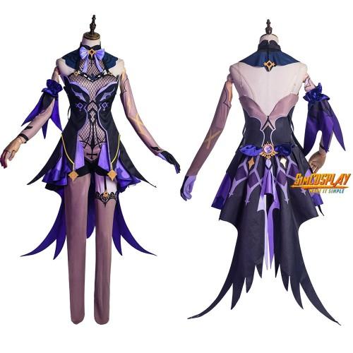 Genshin Impact Fischl Cosplay Costume Genshin Purple Witch Cosplay Suit