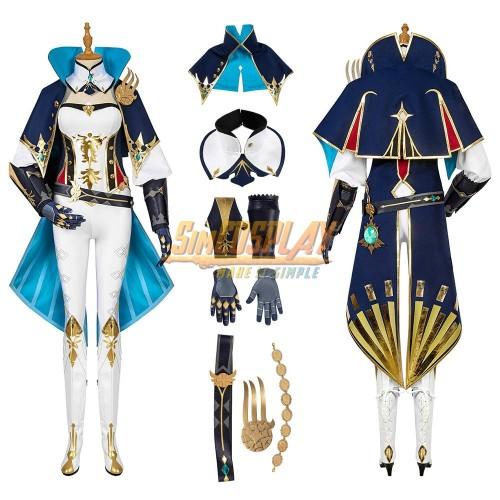 Genshin Impact Jean Cosplay Costume Top Level