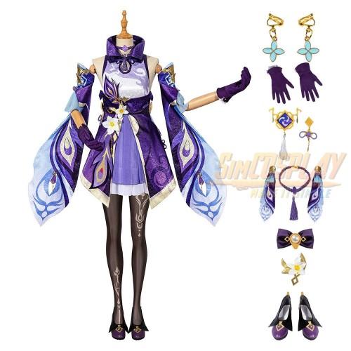 Genshin Impact Keqing Cosplay Costumes Top Level