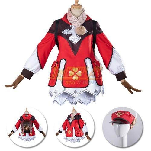 Genshin Impact Klee Cosplay Costume Klee Red Backpack Cute Cosplay Suit