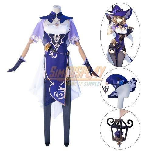 Genshin Impact Lisa Cosplay Costume Lisa Minci Witch Suit